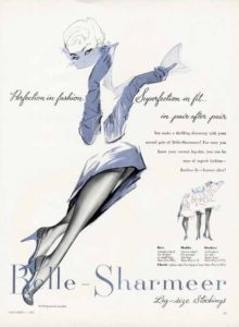 1955 Vayle nylon stockings. Stoffa: nylon