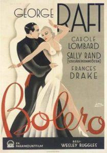 Locandina del film Bolero, con Sally Rand e i suoi ventagli di piume
