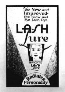 pubblicit? del mascara lash Lure, molto dannoso 1933